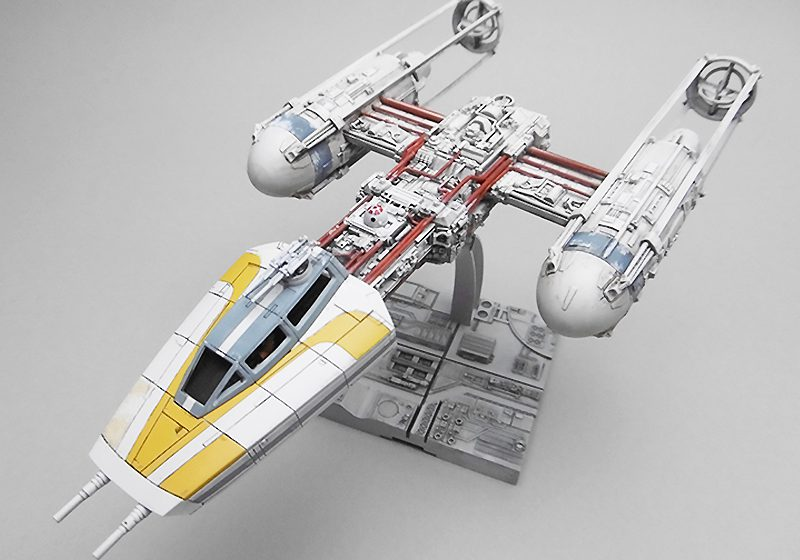 BANDAI 1/72 scale Y-WING STARFIGHTER  Gold Squadron Gold Two