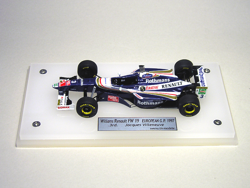 1/43 TAMEO  Williams Renault FW19 European G.P.