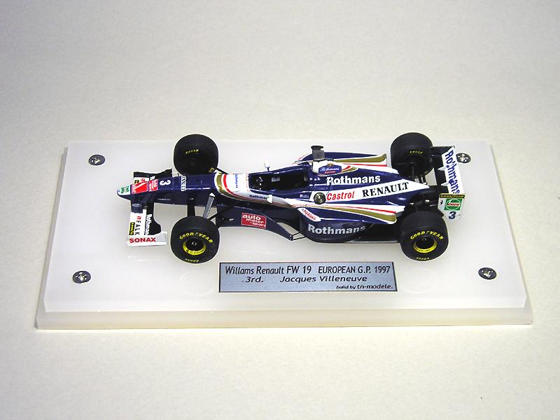 1/43 TAMEO  Williams Renault FW19 European G.P.
